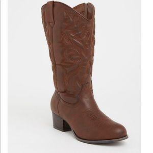 TORRID cowboy boots WIDE WIDTH